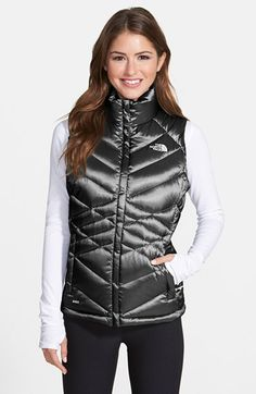 Gold, Silver, or TnF Black; The North Face 'Aconcagua' Down Vest | Nordstrom