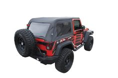 Amazon.com: Rampage Products 109935 Black Frameless Soft Top Kit with Tinted Windows for Jeep Wrangler JK Unlimited 2-Door: Automotive