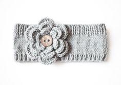Hand Knit Headband  Headband with crochet by OlyaLovelyKnitting, $20.00
