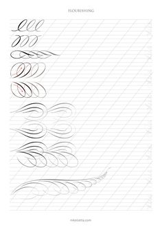 Calligraphy Lines, Calligraphy Lessons, Flourish Calligraphy, Calligraphy Worksheet, Calligraphy Tutorial, Copperplate Calligraphy, Calligraphy Drawing, Calligraphy Practice, Lettering Tutorial
