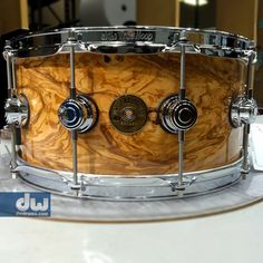 Clear Gloss over Olive Ash Burl. #dwdrums #thedrummerschoice