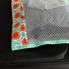 Simple Mesh Bag Tutorial | Step by step directions how to sew a mesh bag with a simple fold-over closure, no zipper necessary. | The Inspire...