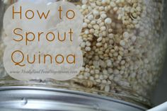 How to Sprout Quinoa @ Healy Real Food Vegetarian