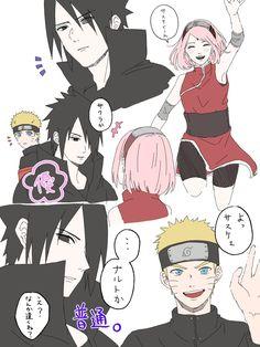 Naruto Sasuke Sakura, Naruto Cute, Naruto Shippuden Sasuke, Sakura Haruno, Kakashi, Sasusaku Doujinshi, Narusaku, Naruto Teams, Naruto Comic