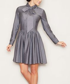 Another great find on #zulily! Gray Sashed Shirt Dress by FIGL #zulilyfinds