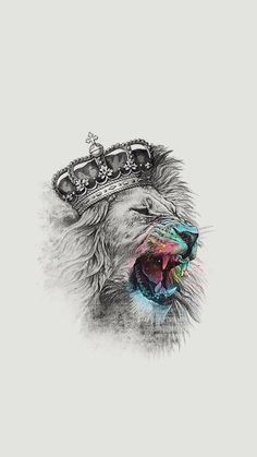 The lion's majesty is something we can all acknowledge. The king of the jungle and leader of the pride, the lion symbolises power, strength, prowess – all a Kunst Tattoos, Bild Tattoos, Tattoo Drawings, Body Art Tattoos, Sleeve Tattoos, Art Drawings, Trendy Tattoos, Cool Tattoos, Tattoo Bunt