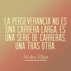 Frases de perseverancia -Walter Elliott