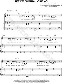 Like I'm Gonna Lose You sheet music by Meghan Trainor feat. John Legend