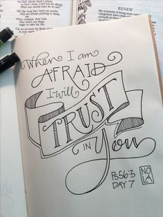 """My trust is in You"" - Bible Journaling by Nola Pierce Chandler"