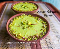 We are sharing dessert recipe of Phirni, which you can prepare for your Iftar party. We have given this recipe a royal touch by adding lot of pistachios. The mesmerizing and aromatic saffron strands are added to give the Phirni a subtlety that this recipe demands. Finally, we add custard apple pulp to impart natural sweetness which completes this Kesar-Sitaphal Phirni and makes it a dessert that your guests would die for. Trust me on the dying part!!