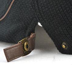 Unisex Knitted Warm Beret Hat Knitting Buckle Paper Boy Newsboy Cabbie Gentleman Visor Cap at Banggood