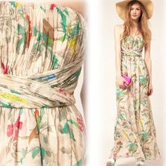 Floral Maxi Dresses for Wedding   Floral Maxi Dress for Wedding with More Casual Theme
