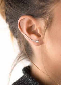 Simple Ear Climber Modern Earring in Gold Filled by LayeredAndLong