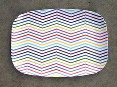 Melamine Zig Zag Platter by shopampersand on Etsy, $22.00