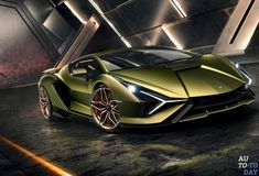 The Italian brand and manufacturer of luxury sports cars and SUV Lamborghini never failed to shocked his fans with its design and technology of cars. This time Lamborghini has come up with their most powerful and fastest car called The Sian. Luxury Sports Cars, Sports Car Brands, Lamborghini Aventador, Lamborghini Diablo, Lambo Huracan, Lamborghini Photos, Ferrari Car, Porsche Cars, Pickup Trucks