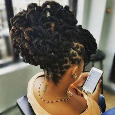 #locs #loctician #locpetals #locsalon #locupdo #locsandmore #womenwithdreads #locstylesforwomen #dreadstylesforwomen #locmagazine #hairinbrooklyn #naturalhairstyles #empress #naturalhair #brooklynhair #brooklynlocsalon #brooklynloctician #shellyloc_t #shellydidthat #keshellhairstudio #longlocs #womenwithlocs #coloredlocs Natural Hair Twists, Natural Hair Updo, Natural Hair Styles, Natural Dreads, Dreadlock Hairstyles, Cool Hairstyles, Wedding Hairstyles, Black Hairstyles, Loc Updo