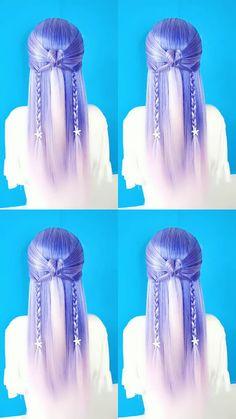 Half Updo Hairstyles, Cute Simple Hairstyles, Easy Hairstyles For Long Hair, Braids For Long Hair, Tween Hairstyles For Girls, Little Girl Hairstyles, Hair Style Vedio, Medium Hair Styles, Long Hair Styles