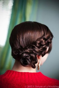 Beautiful sideswept, twisted updo perfect for a wedding. See more styles here... http://www.hillcitybride.com/2012/05/i-dream-of-a-wedding-the-pre-wedding/