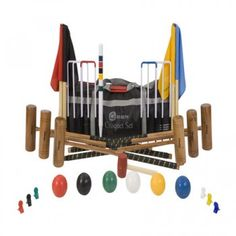 6 Player Croquet Set - The Six Player Croquet Set is the a great Croquet Set With 6 Mallets. Uber Games offers one of the UK's largest ranges of croquet sets, croquet balls and equipment at Great Price. The range includes croquet balls, Tumble Tower & Dom Olympic Party Hire, Most Popular Kids Toys, Wooden Crate Boxes, Bag Clips, Outdoor Toys, Nylon Bag, Uber, Bag Storage, Crates