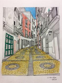 Calle Moreno Zancudo Kids Rugs, Home Decor, Padua, Street, Souvenirs, Brunettes, Cities, Drawings, Homemade Home Decor