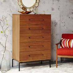 Nash Teak 5-Drawer Dresser #westelm