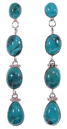 Turquoise Southwest Genuine Sterling Silver Earrings BS59351 http://www.silvertribe.com