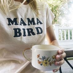 Morning mama bird t's in stock along with a full restock of @thebeeandthefox photo by #darlingfriends @younglovestory