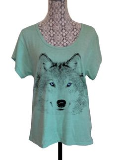 Womens WOLF Face Head BOHO Bohemian Oversized by FreeBirdCloth, $22.00