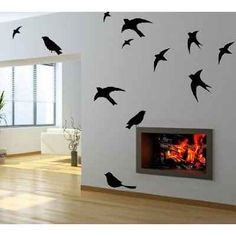 Flying birds wall art decor mural stickers