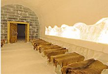 Chapel in the Ice Hotel.  I want to worship here!