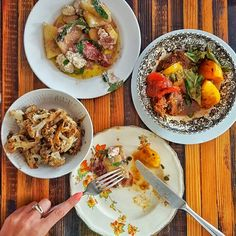 Delicious brunch at the casual and relaxed Lawrence. Rustic small plates, fresh ingredients, seasonal menu and simple well seasoned food... yay!  Roasted cauliflower with capers, lemon and salt.  Yellow watermelon, fresh goat's cheese, copa and fresh mint.  Heirloom tomatoes, whole anchovies, fresh basil, and fried bread.  I'd order all three again. #FMFinMontreal #Montreal @Montreal #mtlmoments