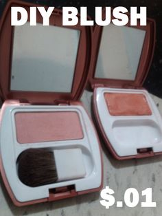 DIY: how to make your own blush.   easy and ridiculously cheap way to make your own blush. Get out!!!