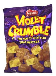 My favorite Assie candy! Violet Crumble - it's the way it shatters that matters