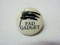 Vintage Early 80s Fad Gadget - Under the Flag Album - Pin / Button / Badge by beatbopboom on Etsy