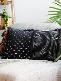 FP One Stitch and Sequin Pillow at Free People Clothing Boutique