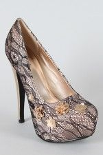 i love lace covered shoes.
