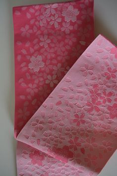 Pink yukata obi, summer kimono sash, made in Japan by StyledinJapan on Etsy