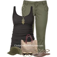 Green and Black, created by cindycook10 on Polyvore