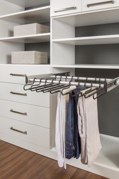 Pull Out Pant Rack   Custom Closets   More Space Place