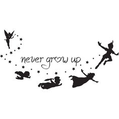 never grow up peter pan silhouette - Google Search                                                                                                                                                                                 More
