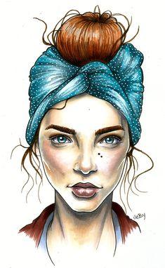 Anna Ritar #illustration #painting #drawing
