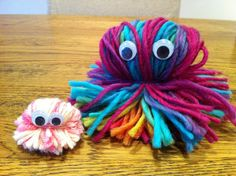 Just have a look at these cute woolly monsters! I think they are just so adorable and a great little creature that would be fun for children to use during creative orimaginative play. School aged children would be able to make many of these in one sitting, possibly a whole family of woolly monsters! Imaginative …
