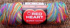 Red Heart Super Saver Yarn #0723 Pinata Variegated 5 Oz Worsted Acrylic Rare
