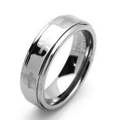 Valentines Day 7MM Comfort Fit Tungsten Carbide Wedding Band Laser Engraved Cross Flat Ring (5 to 15) Cobalt Free Double Accent. $19.99. Comfort Fit. Cobalt Free. Tungsten Wedding Band. Prompt Shipping