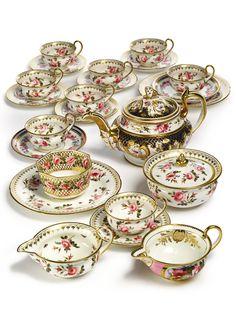 An English porcelain part tea service, circa 1825
