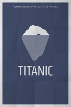 #Titanic. Minimal design poster.