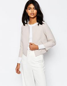 ASOS+Cropped+Raw+Edge+Occasion+Blazer