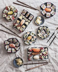We made this sushi ourselves. Proud a/f