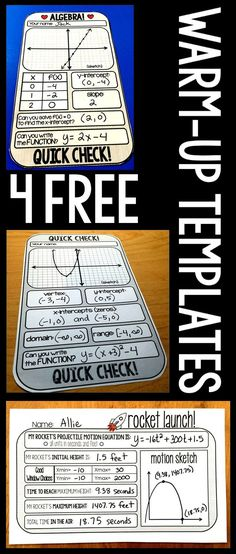 I LOVE warm-up templates! It makes life so much easier to know my warm-up is all…