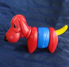 Vintage Tupperware Hound Dog 1970s Tupper Toys Zoo by CurioCabinet